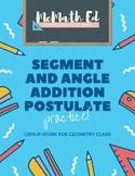 Segment & Angle Addition Postulate Relay