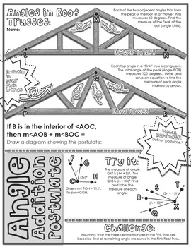 Segment Amp Angle Addition Postulates Doodle Notes By Math