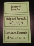 Segment Bisector, Midpoint Formula, and Distance Formula (Geometry Foldable)