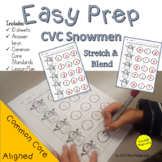 Segmenting and Blending CvC Words No Prep Worksheets