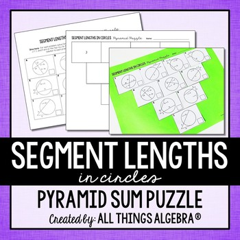 Chords Secants Tangents Teaching Resources | Teachers Pay Teachers
