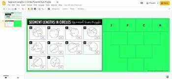 Segment Lengths in Circles Pyramid Sum Puzzle (GOOGLE SLIDES™ VERSION)