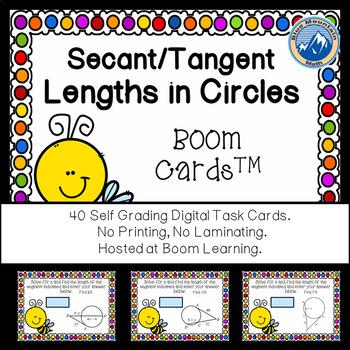 Segment Measures in Circles -- Tangent-Secant Boom Cards-Digital Task Cards