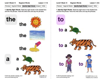 Segment Words: Lesson 1, Book 14 (Newitt Decoding Series)