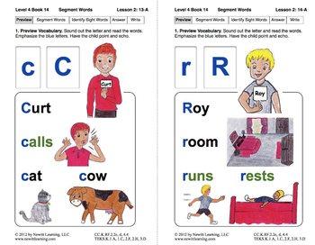 Segment Words: Lesson 2, Book 14 (Newitt Decoding Series)