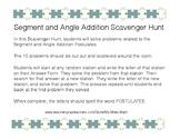 Segment and Angle Addition Postulate Scavenger Hunt
