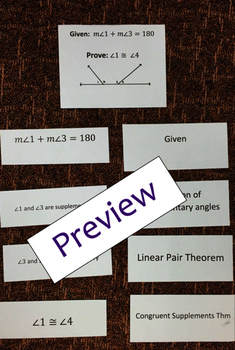Segment and Angle Proof Board Activity