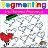 Valentines Day cvc Words Segmenting Worksheets February