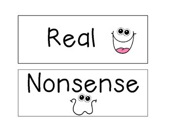 Segment and Blend - Short e CVC - Real and Nonsense Words