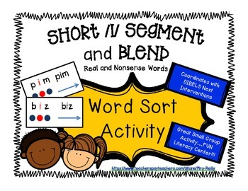Segment and Blend - Short i CVC - Real and Nonsense Words