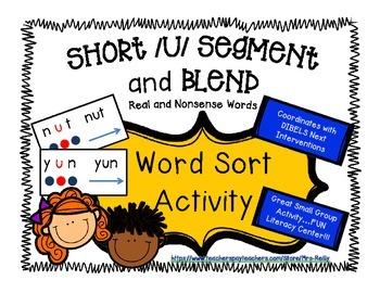 Segment and Blend - Short u CVC - Real and Nonsense Words