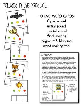 Segment and Blending CVC Word Cards