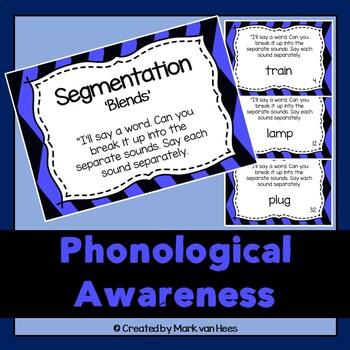 Phonological Awareness Task Cards - Segmentation Blends