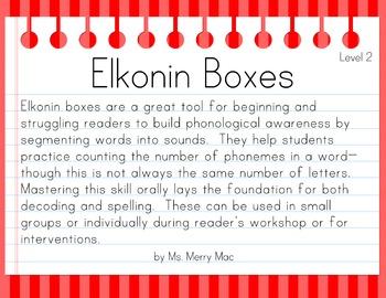 Segmentation Practice with Elkonin Boxes (Level 2)