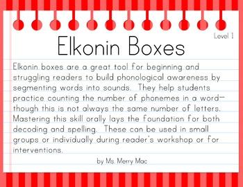 Segmentation Practice with Elkonin Boxes (Level 3)
