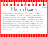 Segmentation Practice with Elkonin Boxes Levels 1-3 Pack