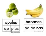 Phonological awareness: Segmentation & blending of syllables