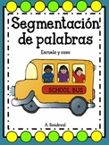 Segmentation of  Words in Spanish -School and Household items