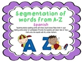 Segmentation of Words/Segmentacion de palabras (Spanish)