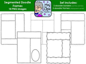 Segmented Doodle Frames Set