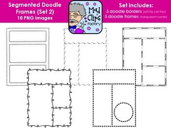 Segmented Doodle Frames Set 2