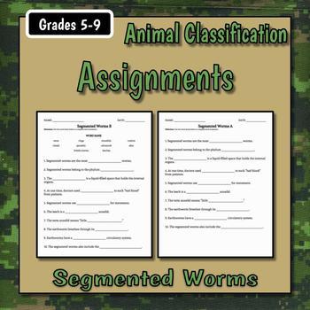 Segmented Worms Teacher Notes & Assignment