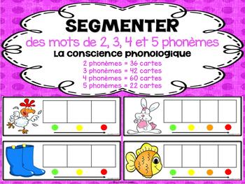 Segmenter des mots de 2, 3, 4, et 5 phonèmes - la conscience phonologique