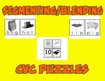Segmenting-Blending Puzzles (CVC)