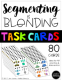 Segmenting & Blending Task Cards (3 & 4 Phonemes)