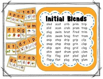 Segmenting & Phonemic Awareness Cards Level 2A (Initial Consonant Blends)
