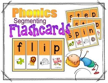 Segmenting & Phonemic Awareness Cards Level 2 (Initial Con