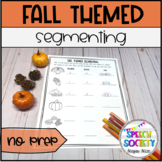 Segmenting Into Syllables and Sounds - Fall Themed