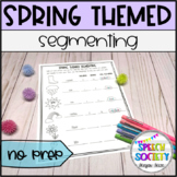 Segmenting Into Syllables and Sounds - Spring Theme