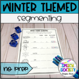 Segmenting Into Syllables and Sounds - Winter Themed