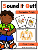 Segmenting Skill - Sound it Out - Chevron Apples Themed