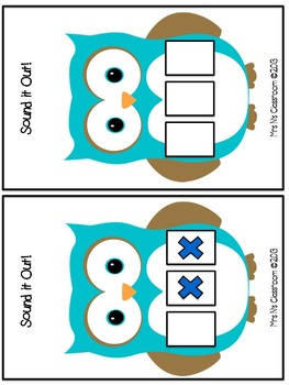Segmenting Skill - Sound it Out - Owl Themed