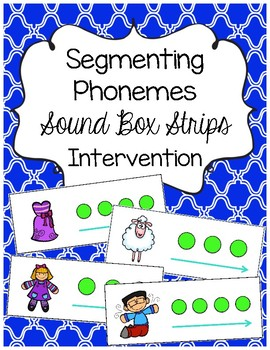 Segmenting Phonemes-{{Sound Box Strips}} RTI