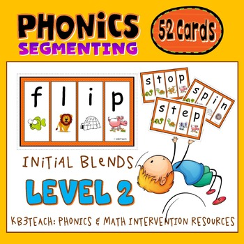 Segmenting & Phonemic Awareness Cards Level 2A (Initial Consonant Blends)