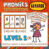 Segmenting & Phonemic Awareness Cards Level 2B (Ending Con