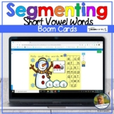 Segmenting Short Vowel CvC Words Winter Snowman   Boom Car