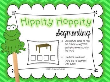 Segmenting Sounds ~ Frog Theme Hippity Hoppity Segmenting