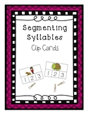 Segmenting Syllables Clip Cards - Phonological Awareness Activity