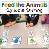 Segmenting Syllables Sort Game for Phonological Awareness Feed the Animals