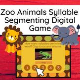 Segmenting Syllables Zoo Animals Interactive Google Slides Game