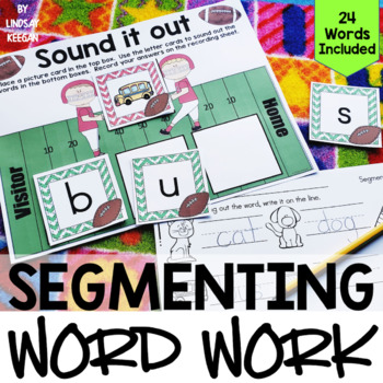 Segmenting Word Work - Sounding Out Center - 3 Letter Words