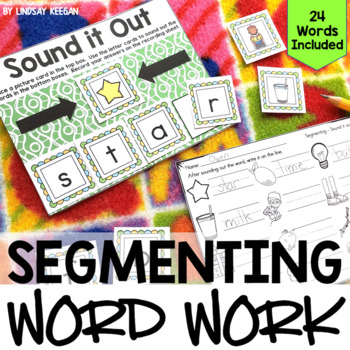 Segmenting Word Work - Sounding Out Center - 4 Letter Words