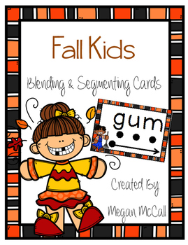 Segmenting and Blending Cards--Happy Fall Kids Edition