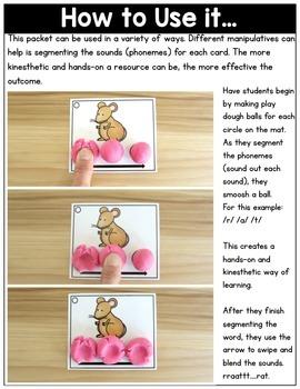 Segmenting and Blending Cards: Phonemic Awareness