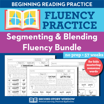 Segmenting and Blending Nonsense Word Fluency Homework or Intervention Bundle