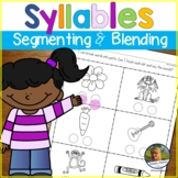 Phonological Awareness Worksheets | Syllable Segmenting an